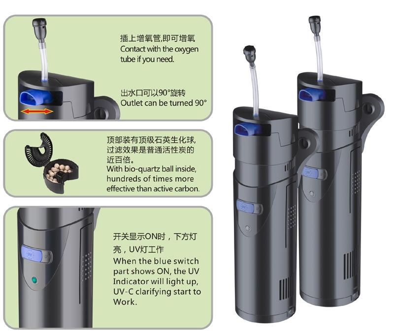 Wholesale pump filter for aquarium hbl301 company for garden-2