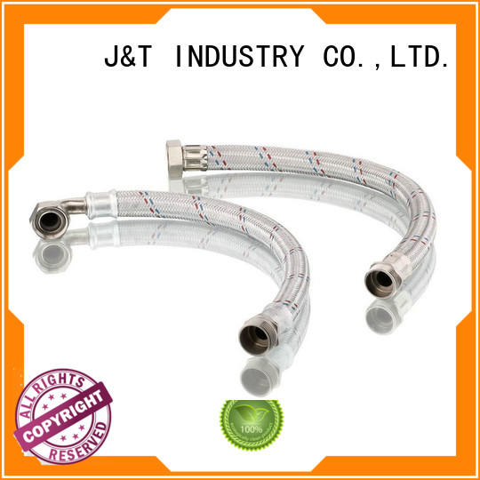 JT oil stainless flexible hose With Thread for home