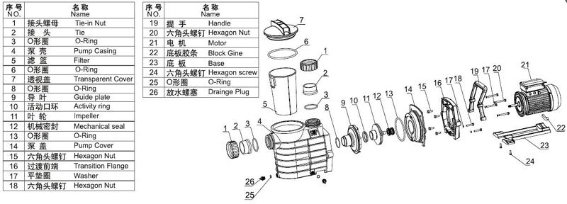 JT Plastic, copper, aluminum swimming pool pump low-noise for SPA pump-3