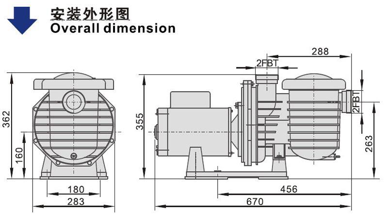JT pump swimming pool vacuum hose system for SPA pump-2