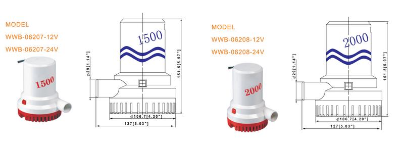 JT automatic bilge pump high reliability for aquarium-2