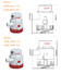 electronic marine bilge pump fast and convenient installation, for deep well
