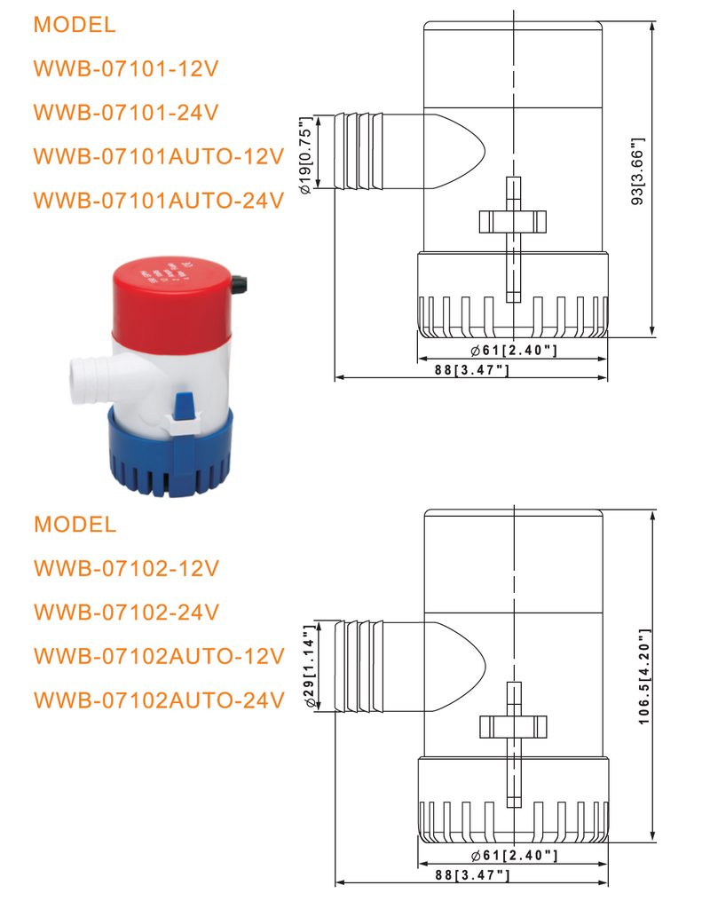 New small automatic bilge pump bilge Supply for sea-2