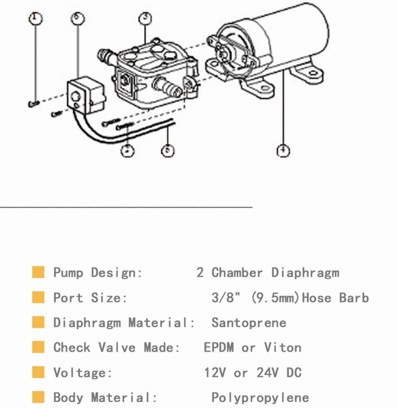 JT engine 12v marine utility water pump multi-function for garden-2