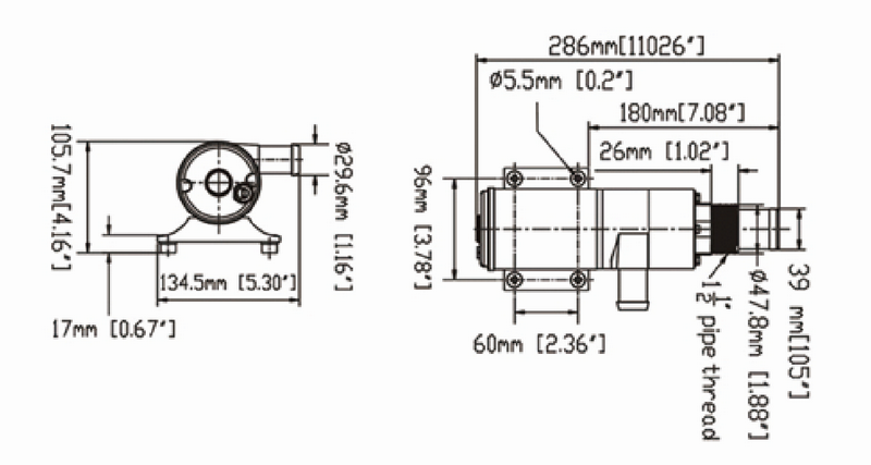 JT small shurflo 12 volt rv water pump for sale for garden-2