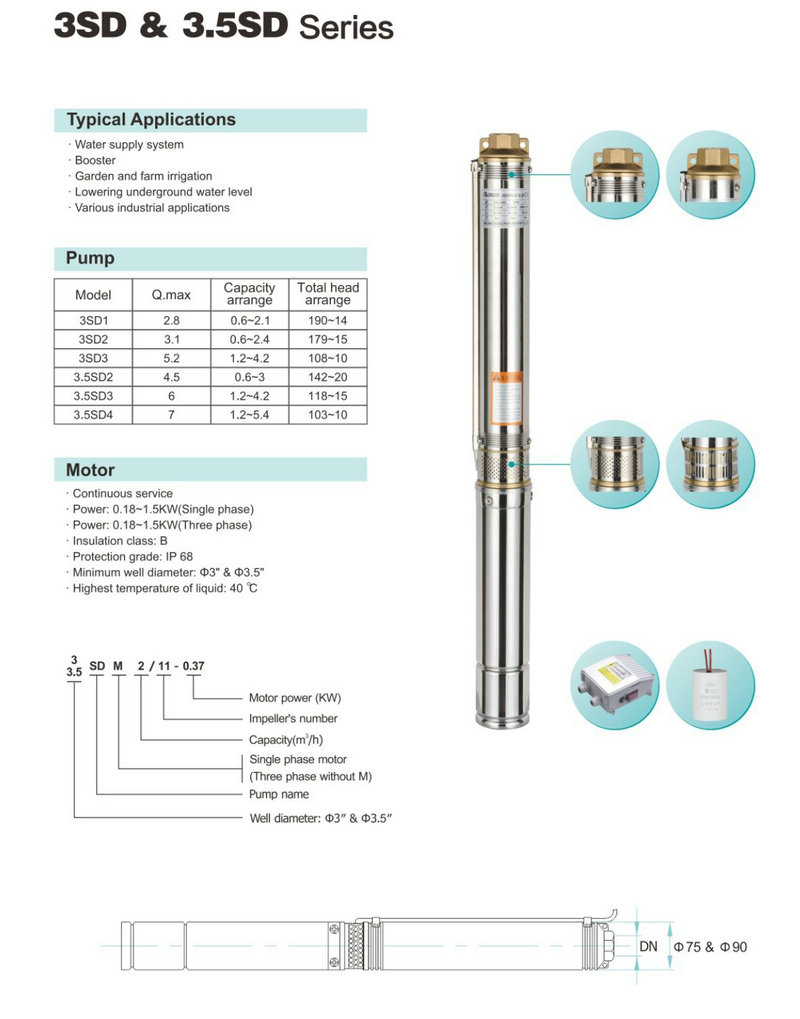 JT open 2nd hand borehole pumps Suppliers for booster-2