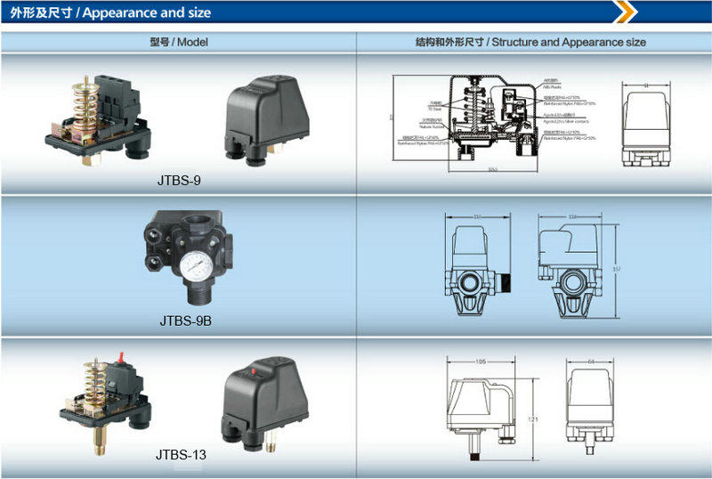 JT best pump pressure switch fast and convenient installation, for well-3