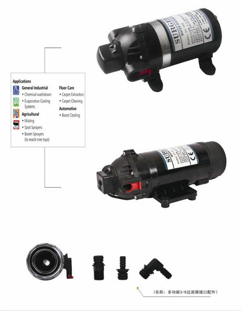 small diaphragm transfer pump fl100 high reliability for draw water-2